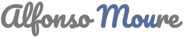 Logo Alfonso Moure fondo oscuro